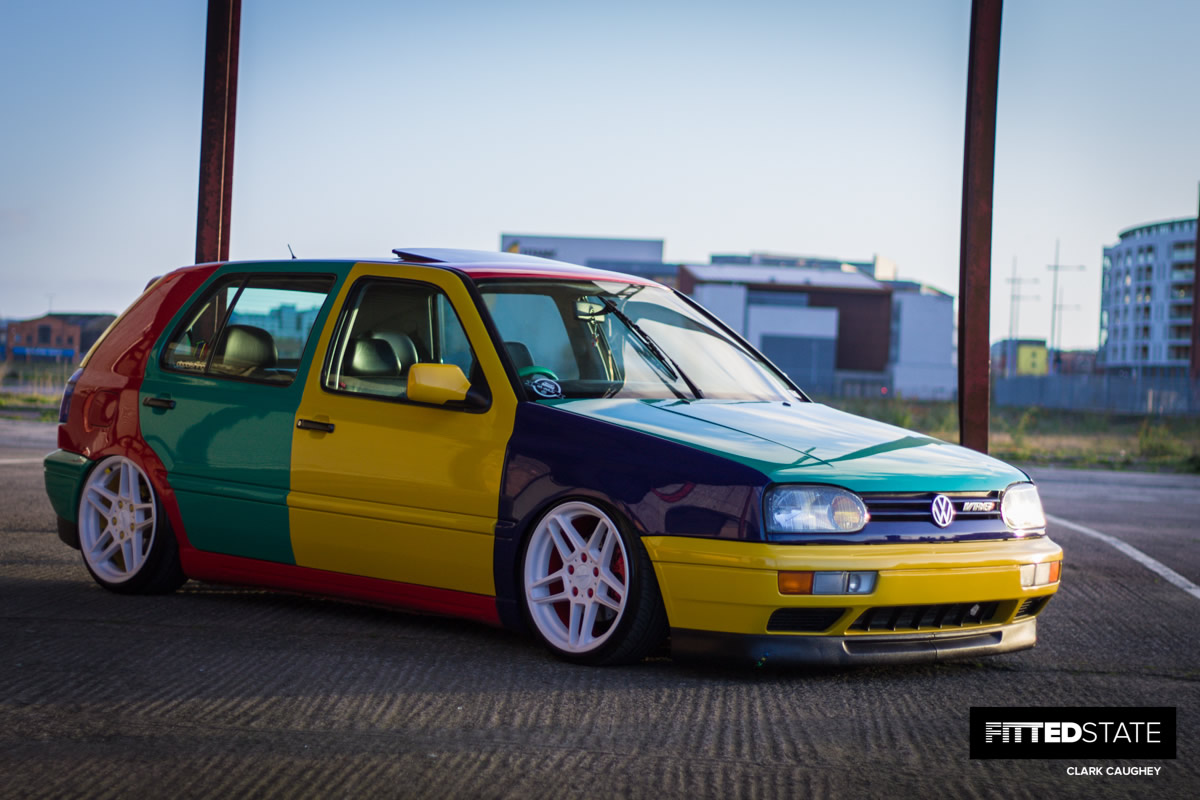 Lee Docherty's Harlequin VR6 Golf - Fitted State