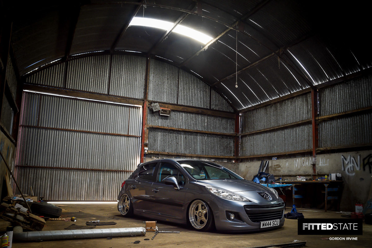 michael scullin's juiced peugeot 207 - fitted state